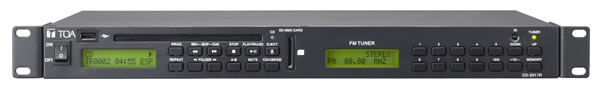 Bộ phát CD/USB/SD/FM TOA CD 2011R:Japan/Indonesia